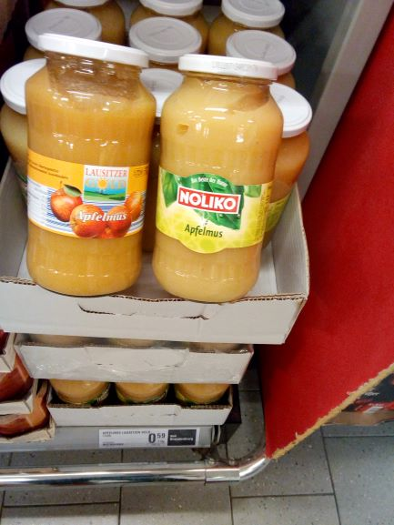 Ist 'NETTO' auf den Hund gekommen? Apfelmus aus Belgien statt aus der Lausitz?
